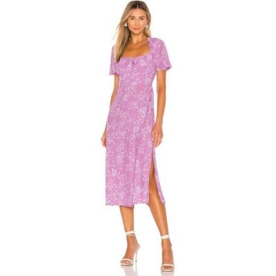 フェイスフルザブランド FAITHFULL THE BRAND レディース ワンピース ミドル丈 ワンピース・ドレス Bette Midi Dress Lavender Stevie Floral