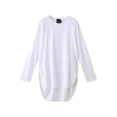 ATON エイトン ラウンドヘムロングスリーブTシャツ レディース ホワイト 2