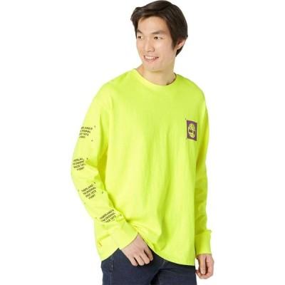 ティンバーランド Timberland メンズ 長袖Tシャツ トップス Long Sleeve Garment Dyed Graphic Tee Safety Yellow