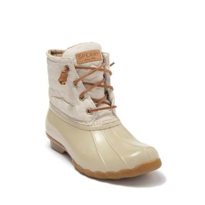 スペリー レディース ブーツ&レインブーツ シューズ Saltwater Waterproof Duck Boot IVORY