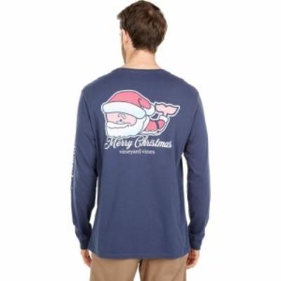 ヴィニヤードヴァインズ Vineyard Vines メンズ トップス Long Sleeve 2020 Classic Santa Whale Blue Blazer