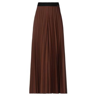 CARLA MONTANARINI ロングスカート ココア 38 ポリエステル 62% / レーヨン 35% / ポリウレタン 3% ロングスカート