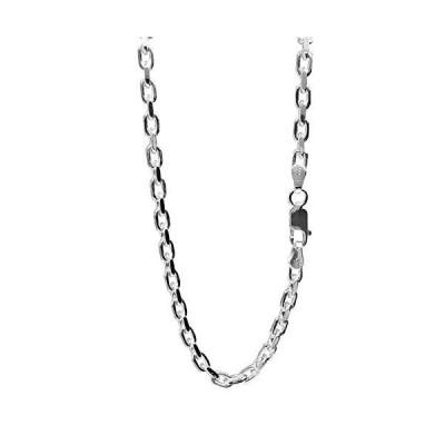 新宿銀の蔵 あずきチェーン 2面カット 長さ40〜60cm (40cm) 幅3.8mm シルバー 925 ネックレス チェーン