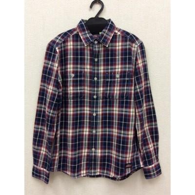 ディッキーズ メンズ 青や赤のチェックシャツ スリムフィット 美品
