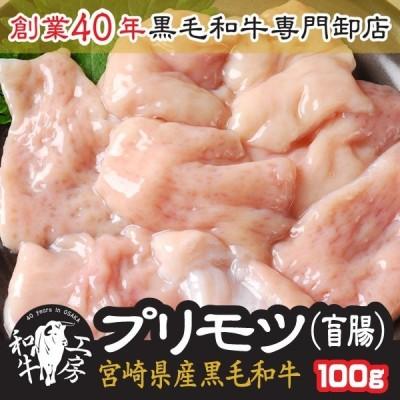 肉 もつ鍋 A5 宮崎県産 黒毛和牛 プリモツ 盲腸 100g ホルモン 焼肉