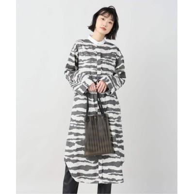レディース ジョイントワークス 【EARIH / アーリ】 zebra  print shirt dress グレー フリー