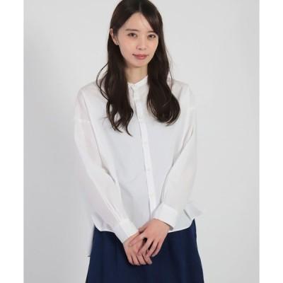 シャツ ブラウス [D.M.G / ディーエムジー] 100/2ブロード スタンドワイドシャツ