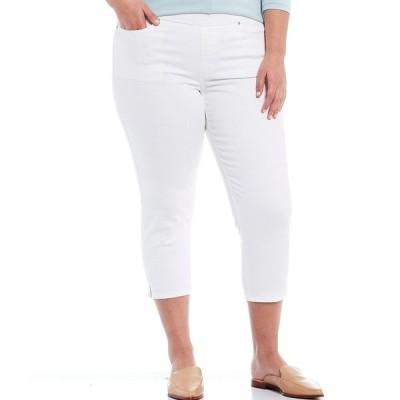 ウェストボンド レディース カジュアルパンツ ボトムス Plus Size the HIGH RISE fit Skinny Cropped Pants White