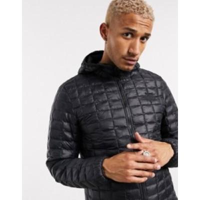 ノースフェイス メンズ ジャケット・ブルゾン アウター The North Face Thermoball Eco hooded jacket in black TNF black