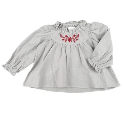 [キッズ]長袖衿付きブラウス シュシュクシュ グレー 120 ベビー・キッズウェア キッズ(100~120cm) トップス(女児) 赤ちゃん本舗(アカチャンホンポ)