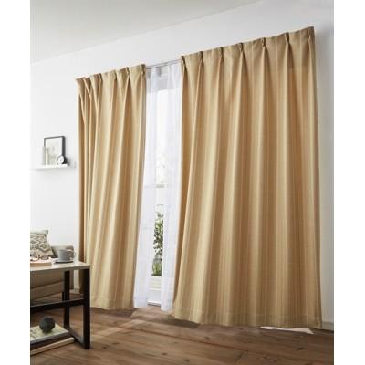 ストライプ柄・遮光カーテン&レース4枚セット カーテン&レースセット, Curtains, sheer curtains, net curtains(ニッセン、nissen)