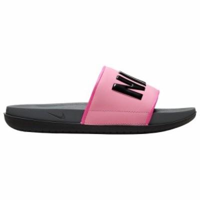 ナイキ レディース サンダル Nike Offcourt Slide スリッパ Pink Blast/Black/Dark Grey