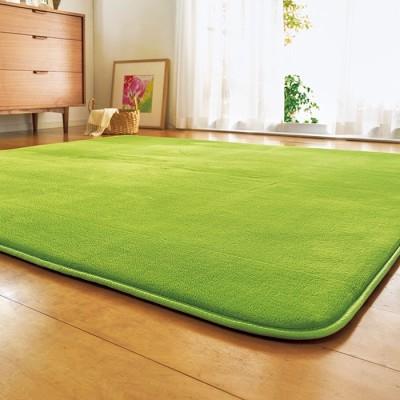 ベルーナインテリア ふわふわふっくらラグ<カーペット・絨毯><1.5畳・2畳・3畳・4畳> ベージュ ふっくらタイプ(厚み20mm)1.5畳 レディース