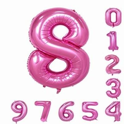 (0-9)誕生日パーティーバルーン40インチピンクの数字アラビア数字の装飾8