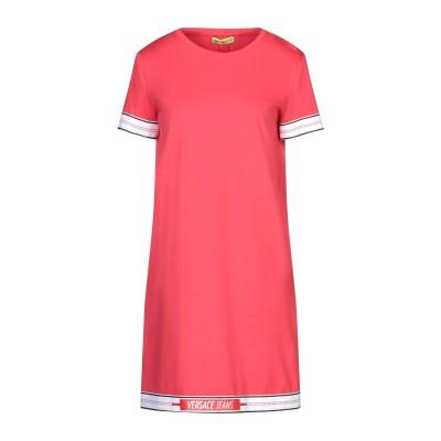 VERSACE JEANS ミニワンピース&ドレス レッド 38 コットン 100% / レーヨン / ナイロン / ポリウレタン ミニワンピース&