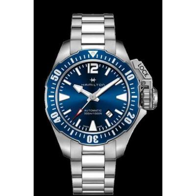 ハミルトン 腕時計 Hamilton Khaki Navy Frogman Auto Stainless Steel Blue Dial メンズ Watch H77705145