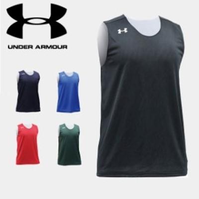 ☆ネコポス アンダーアーマー UA TS リバーシブル Tシャツ ノースリーブシャツ メンズ ルーズ バスケットボール トレーニ