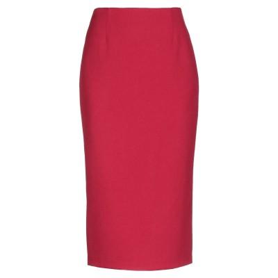 ALESSANDRO LEGORA 7分丈スカート レッド 44 ポリエステル 82% / レーヨン 15% / ポリウレタン 3% 7分丈スカート
