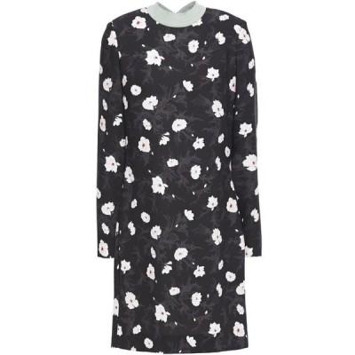 カルヴェン CARVEN レディース ワンピース ミニ丈 ワンピース・ドレス floral-print crepe mini dress Black