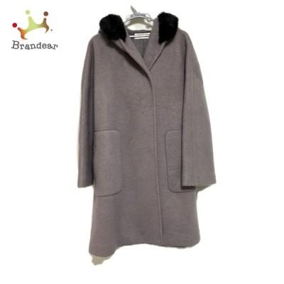 ドゥクラッセ DoCLASSE コート サイズ13 L レディース - 訳あり パープル×黒 長袖/冬 新着 20210209