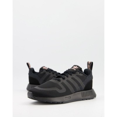 アディダス adidas Originals レディース スニーカー シューズ・靴 Smooth Runner trainers in triple black ブラック
