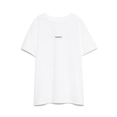 【ミラオーウェン】 手書き風ロゴTシャツ レディース ホワイト 0 Mila Owen