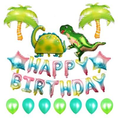 恐竜 誕生日バルーン飾り付けセット  恐竜2匹!お誕生日のお祝いに!ティラノサウル パーティー 飾り バースデー 飾り付け 風船 男の子 女の子 100日