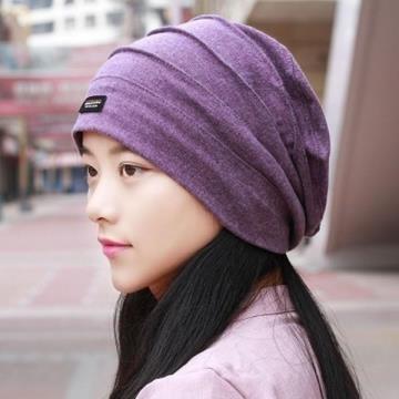 帽子女春夏超薄冰感頭巾帽空調光頭月子化療帽子包頭帽街舞帽潮