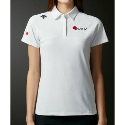 【デサントゴルフ】【ナショナルチームモデル】衿後ろライジングデザイン ショートスリーブシャツ【UV】