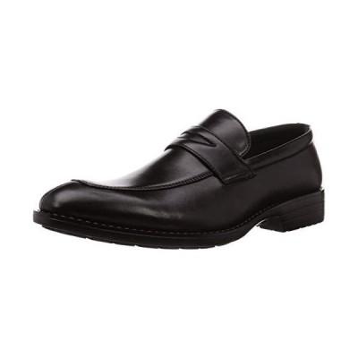 [カンザン] ビジネスシューズ ローファー ストレッチ 軽量 防水 防滑 柔らかい 紳士靴 KZF7004 メンズ ブラック 25 cm