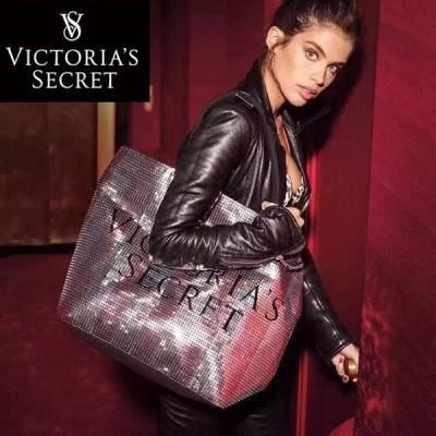 【送料無料】ヴィクトリアシークレット バッグ VICTORIA'S SECRET ビクトリア トートバッグ スパンコール ハンドバッグ