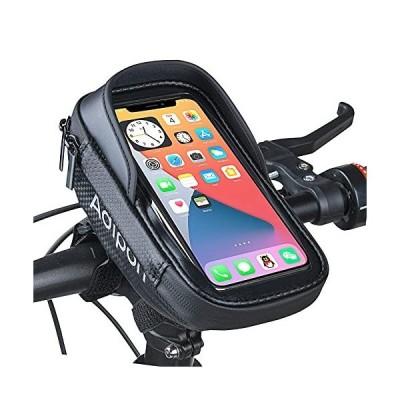 Adiport 自転車用携帯電話マウントバッグ 自転車フロントフレーム ハンドルバーポーチ 防水携帯電話ケースホルダー ストレージアクセサリー サイク