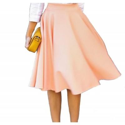 スカート フレアー膝丈スカート