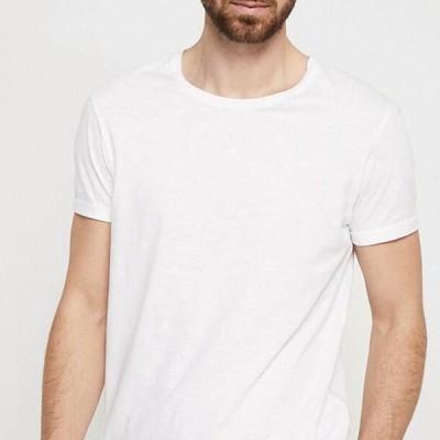 エスプリ メンズ ファッション LONG TEE - Basic T-shirt - white