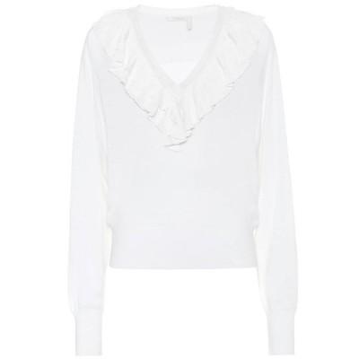 クロエ Chloe レディース ニット・セーター トップス ruffled wool sweater Iconic Milk