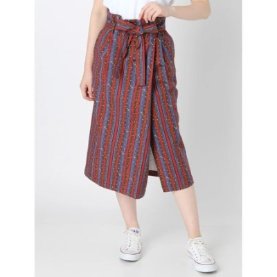 【WOMEN】エスニック柄スカート