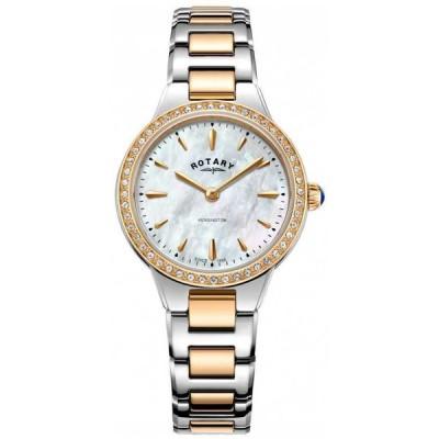 ロータリー 腕時計 Rotary レディース Kensington Rose Gold Two Tone LB05277/41 Watch