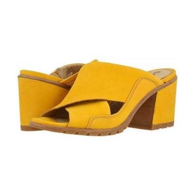 SOREL ソレル レディース 女性用 シューズ 靴 ヒール Nadia Mule - Golden Yellow Nubuck