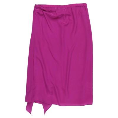 FLAVIO CASTELLANI 7分丈スカート パープル 42 シルク 100% 7分丈スカート