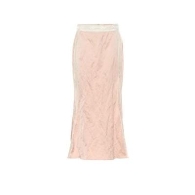 ブロック コレクション Brock Collection レディース ひざ丈スカート スカート Lace-trimmed midi skirt Pink