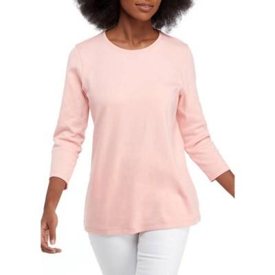 キム ロジャース レディース Tシャツ トップス Women's 3/4 Sleeve Fashion Sweater