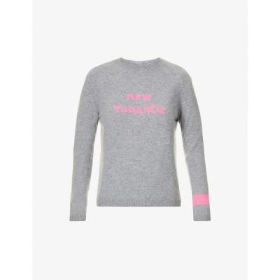 ベラフルード BELLA FREUD レディース ニット・セーター トップス New Romantic slogan-intarsia cashmere jumper GREY MARL