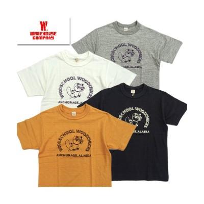 ウエアハウス WAREHOUSE Tシャツ Lot4601 WOODCHUCKS 半袖 プリントT アメカジ 2020年春夏新作 1枚までレターパック対応