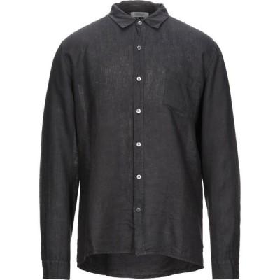 クロスリー CROSSLEY メンズ シャツ トップス Linen Shirt Steel grey