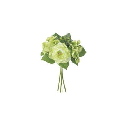 ミックスフラワーブーケ 造花 アスカ商会アイテム ハイクオリティーフラワー ホワイト&グリーンシリーズ 代引き不可