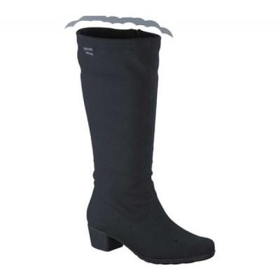メフィスト Mephisto レディース ブーツ ロングブーツ シューズ・靴 Issa Gt Knee High Boot Black Stretch Fabric