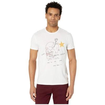 ジョン バルベイトス John Varvatos Star U.S.A. メンズ Tシャツ トップス Skull Embroidery Crew Tee KG4933W1B Salt
