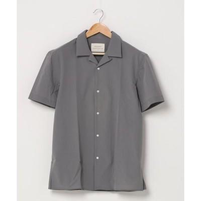 シャツ ブラウス MINS MINIS/ミンス ミニス/ナイロンオープンカラー半袖シャツ