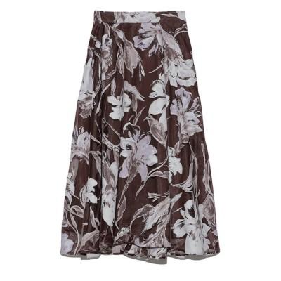 FRAY I.D / オーガンジーフラワースカート WOMEN スカート > スカート