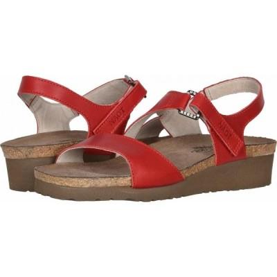 ナオト Naot レディース サンダル・ミュール シューズ・靴 Pamela Kiss Red Leather